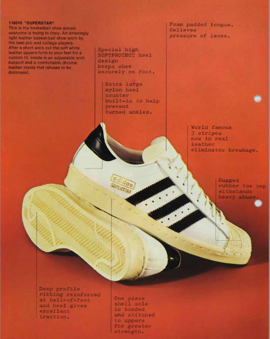 adidas Superstar vintage advert 1970