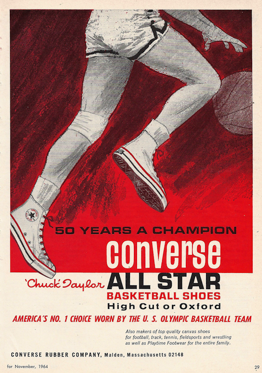 Converse Chuck Taylor all star Magazine ad (1964)