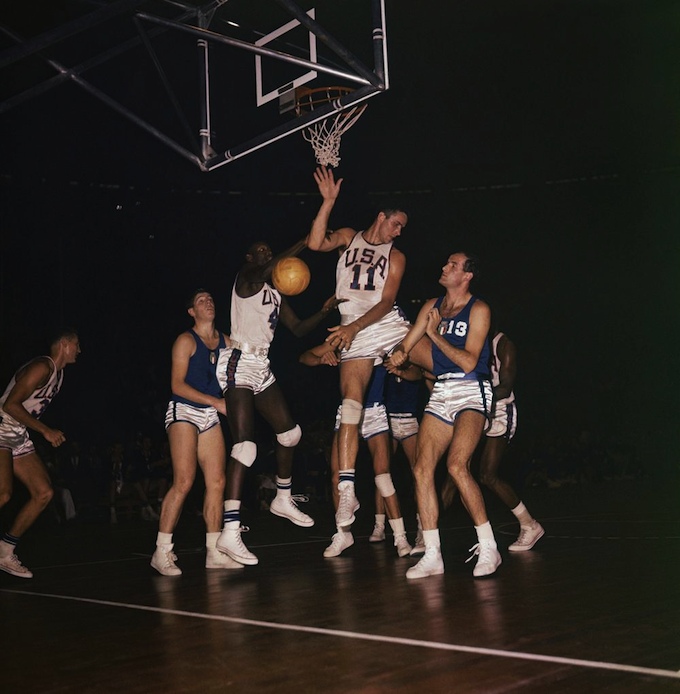 USA vs Italy A Olympic basketball game at the 1960 Rome Summer Games