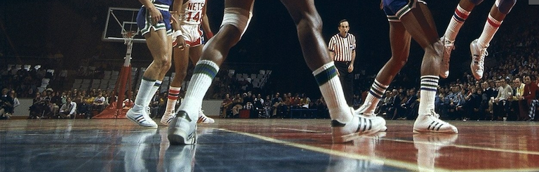 adidas Superstar worn by NBA and ABA players 1970s